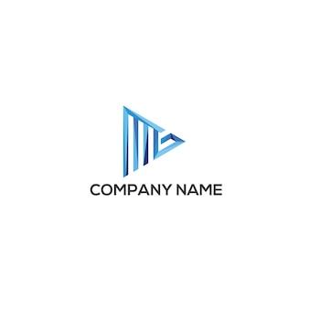 Szablon logo mg trójkąta