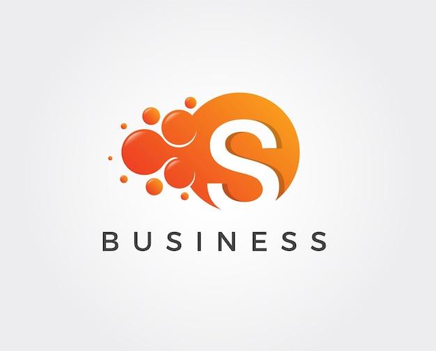 Szablon logo minimalnej litery s