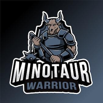 Szablon logo minotour warrior