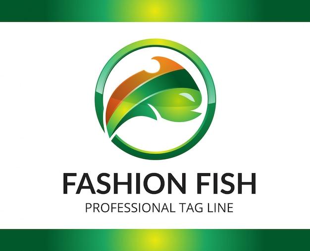 Szablon logo mody ryb