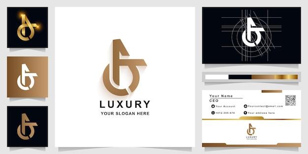 Szablon logo monogram litery a lub reklamy z projektem wizytówki