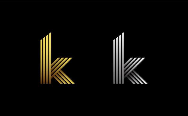 Szablon logo monogram początkowej litery k
