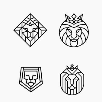 Szablon logo monoline zarys linii głowy