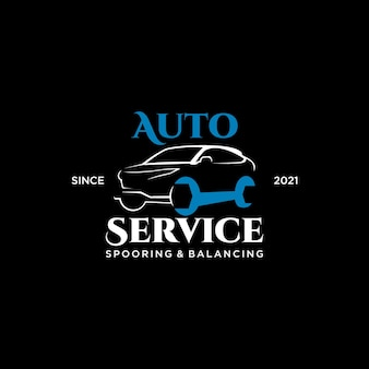 Szablon logo motoryzacyjnego nowoczesne pomysły na samochód wektor