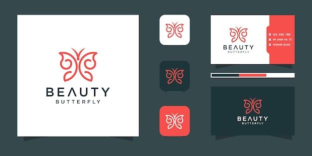 Szablon logo motyl