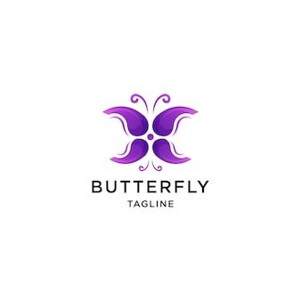 Szablon logo motyla
