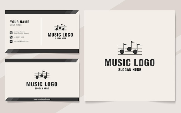 Szablon logo muzyki w stylu monogram