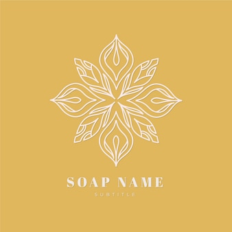 Szablon logo mydła