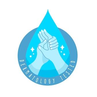 Szablon logo mydło czyste ręce
