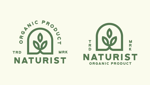 Szablon logo natura liść