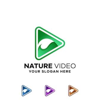 Szablon logo naturalnego gradientu wideo