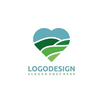 Szablon logo natury i miłości