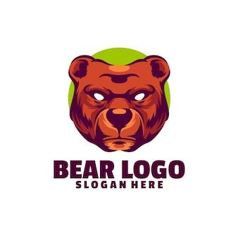 Szablon logo niedźwiedzia jest oparty na wektorach. są w pełni edytowalne i skalowalne bez utraty rozdzielczości.
