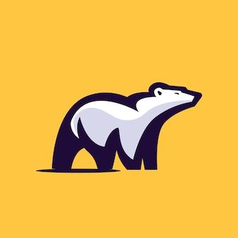 Szablon logo niedźwiedzia