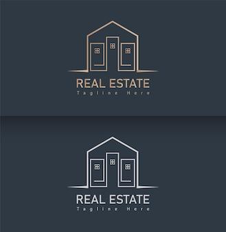 Szablon logo nieruchomości domu