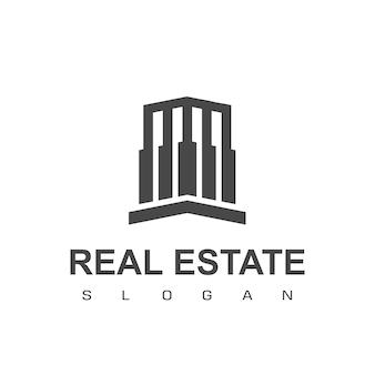 Szablon logo nieruchomości i mieszkania
