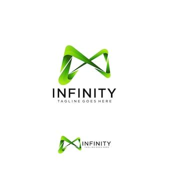 Szablon logo nieskończoności.