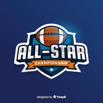 Szablon logo nowoczesnego futbolu amerykańskiego zespołu