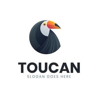Szablon logo nowoczesny krąg tukan ptak