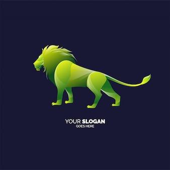 Szablon logo nowoczesny lew