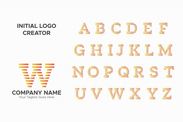 Szablon logo nowoczesny list początkowy