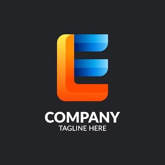 Szablon logo nowoczesny litera e.