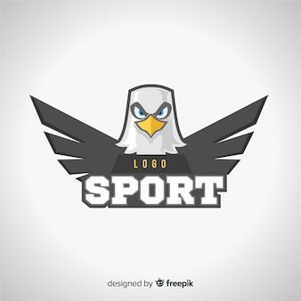 Szablon logo nowoczesny sport z orłem