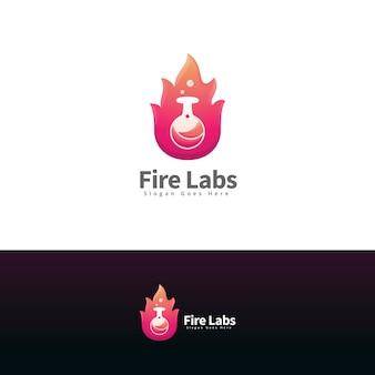Szablon logo nowoczesnych laboratoriów przeciwpożarowych