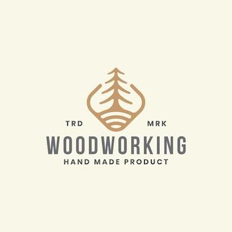 Szablon logo obróbki drewna