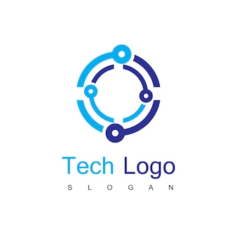 Szablon logo obwodu technologii