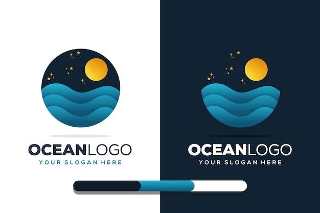 Szablon logo oceanu