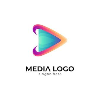 Szablon logo odtwarzania mediów