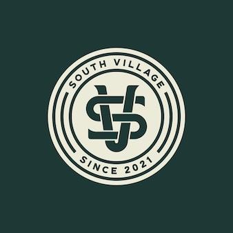 Szablon logo odznaka monogram sv