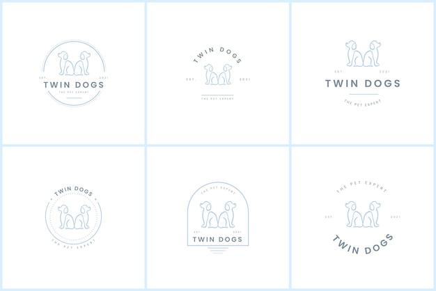 Szablon logo odznaka pies premium
