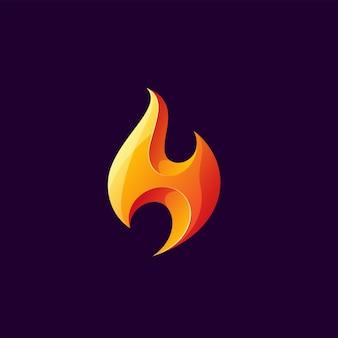 Szablon logo ognia