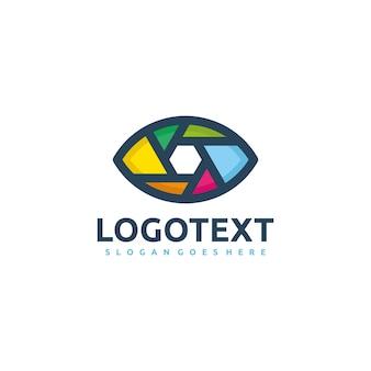 Szablon logo oko fotografa