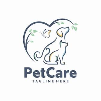 Szablon logo opieki nad zwierzętami