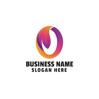 Szablon logo organicznego gradientu
