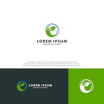 Szablon logo organicznych ludzi