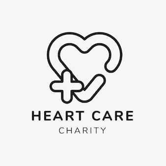 Szablon logo organizacji charytatywnej, wektor projektu marki non-profit