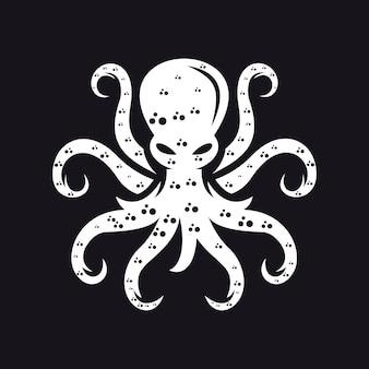 Szablon logo ośmiornicy