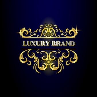 Szablon logo ozdobnych luksusowych projektów