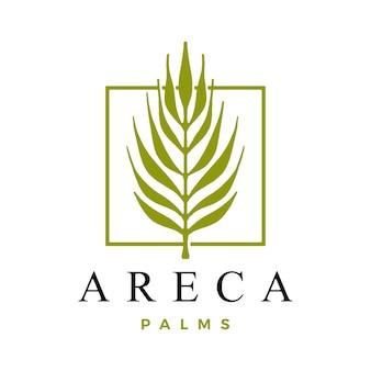 Szablon logo palmy areca