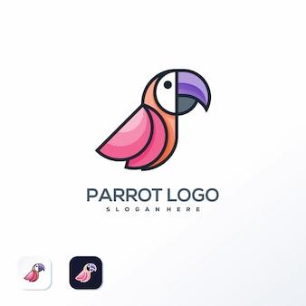 Szablon logo papuga