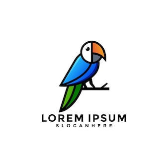 Szablon logo papugi