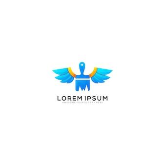 Szablon logo pędzla