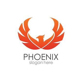 Szablon logo phoenix wings