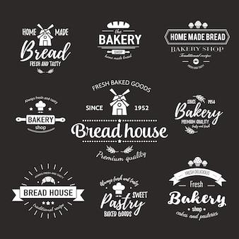 Szablon logo piekarni i odznaki na świeże wypieki