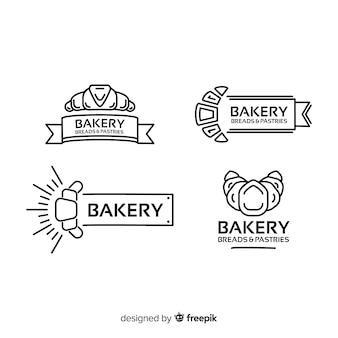 Szablon logo piekarni linii sztuki