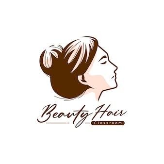 Szablon logo piękna włosów
